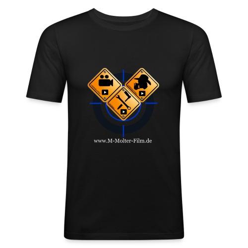 Logo Homepage M-Molter-Film.de - Männer Slim Fit T-Shirt