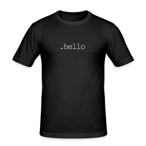 .hello white - Männer Slim Fit T-Shirt