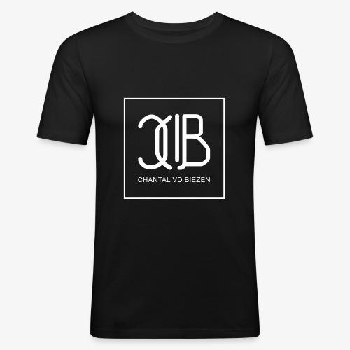 Chantal Vd Biezen Fan Artikel (logo-weiß) - Männer Slim Fit T-Shirt