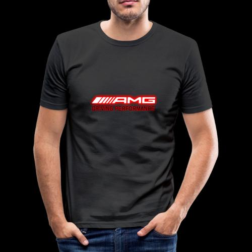 AMG Red-Edition NEON - Männer Slim Fit T-Shirt