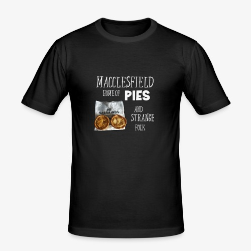 Macclesfield Home Of Pies And Strange Folk - Men's Slim Fit T-Shirt