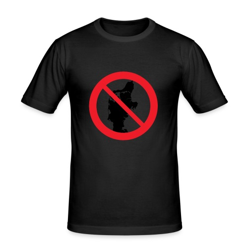 Jylland forbudt - Herre Slim Fit T-Shirt
