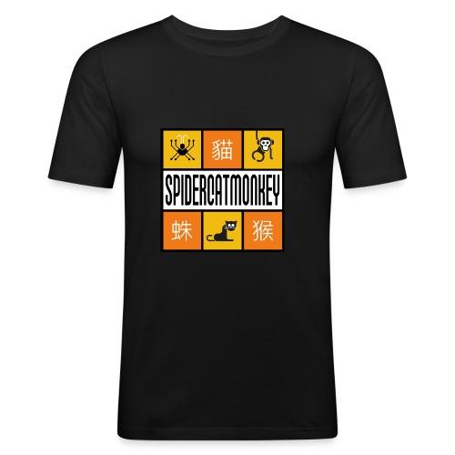 Band-Logo SPIDERCATMONKEY, orange - Männer Slim Fit T-Shirt