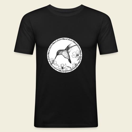 Kolibri Blüten Kreis - Männer Slim Fit T-Shirt