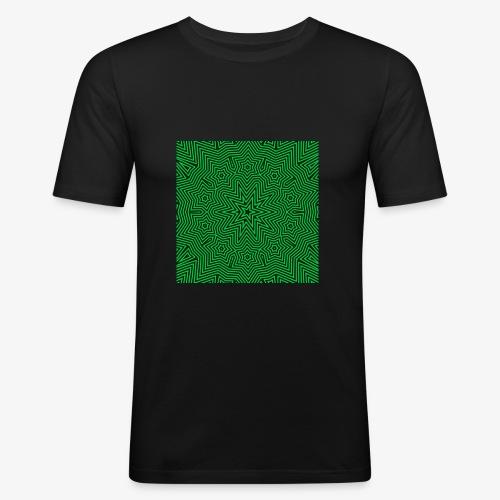 Psychedelic Star - Männer Slim Fit T-Shirt