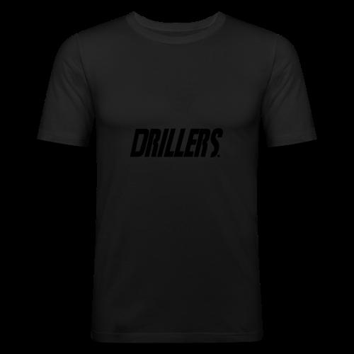 Drillers | BlackText - Men's Slim Fit T-Shirt