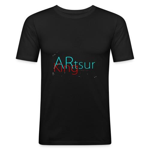 ARtsurKing Logo - Herre Slim Fit T-Shirt