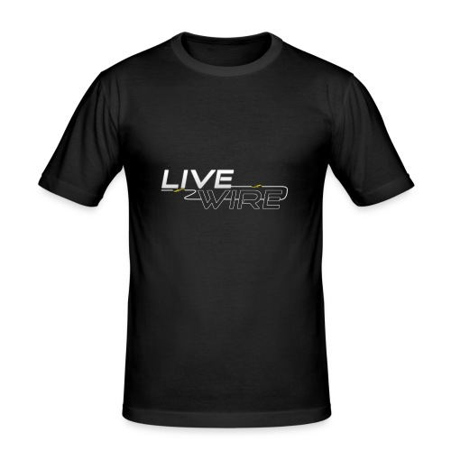 YT_Watermark - Men's Slim Fit T-Shirt