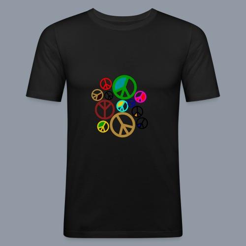 Peace, Peace, Peace - Männer Slim Fit T-Shirt