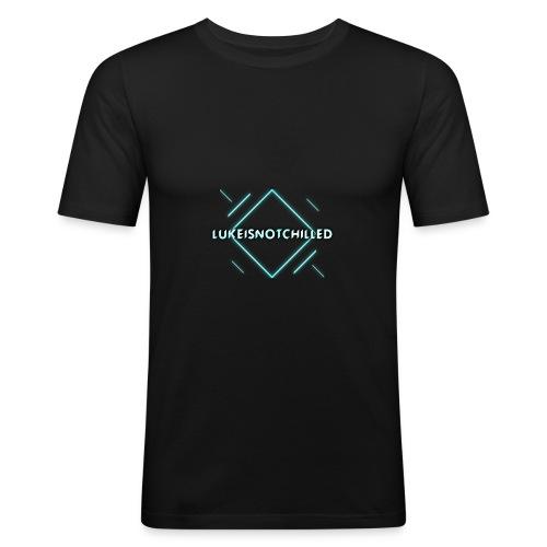 Lukeisnotchilled logo - Men's Slim Fit T-Shirt