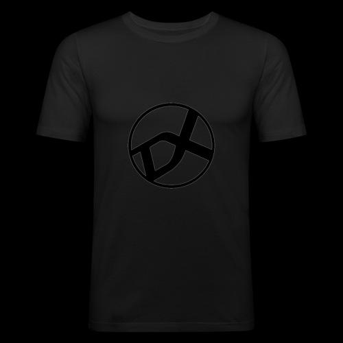 DX Logo black - Männer Slim Fit T-Shirt