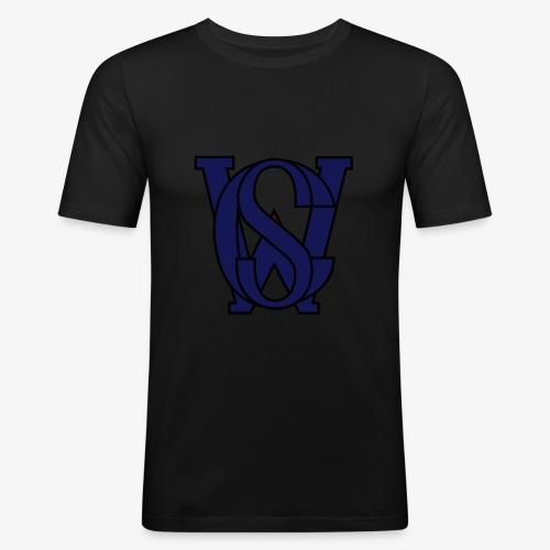 SCW Logo schwarzer rand graue fuellung 07 - Männer Slim Fit T-Shirt