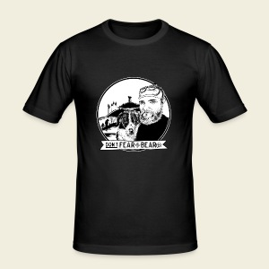 Don't fear the BEAR(d) - Männer Slim Fit T-Shirt