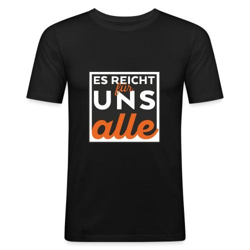 esreichtfuerunsalle - Männer Slim Fit T-Shirt