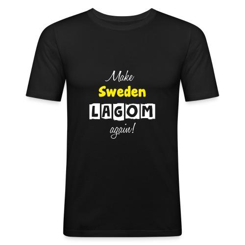 Make Sweden LAGOM again! - Slim Fit T-shirt herr