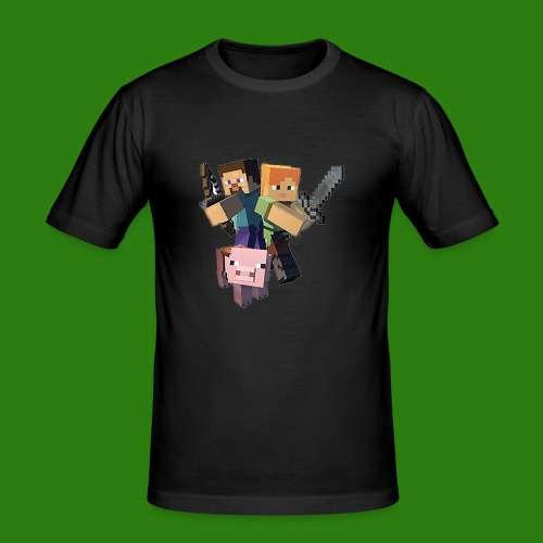 Minecraft - Maglietta aderente da uomo
