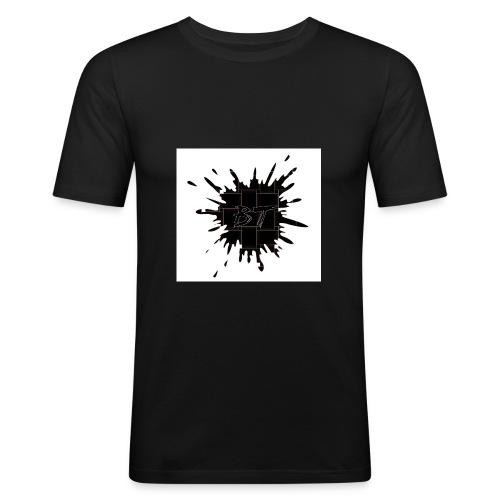 Blacktuber Splash Logo - slim fit T-shirt