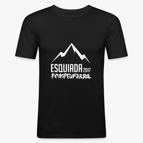 Esquiada Pompeufarra 2017 white - Camiseta ajustada hombre