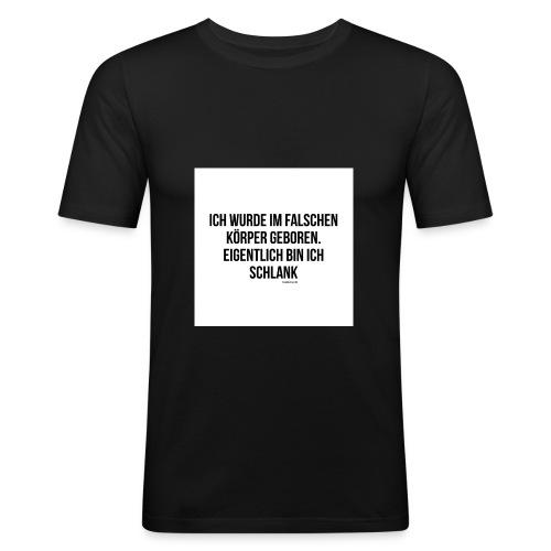 falscher Körper - Männer Slim Fit T-Shirt