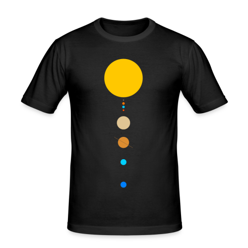 Sonnensystem - Männer Slim Fit T-Shirt