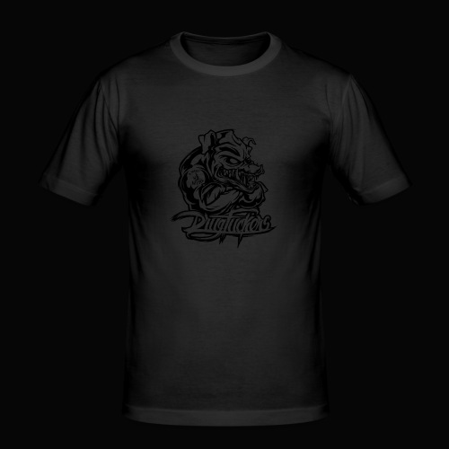 Drug_Fuckers_Logo _-_ Composition_01-_black - Men's Slim Fit T-Shirt