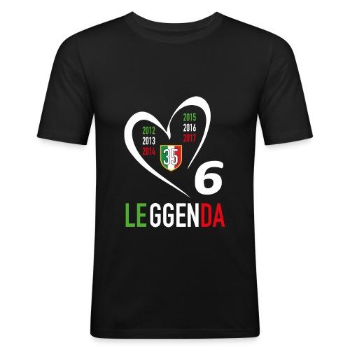 LE6GENDA - Maglietta aderente da uomo