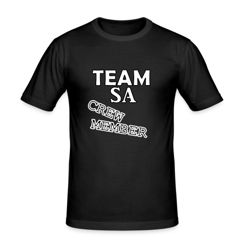 Team SA Crew Member Vit - Slim Fit T-shirt herr
