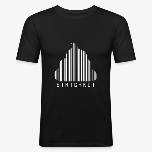 Strichkot (Weiss) - Männer Slim Fit T-Shirt