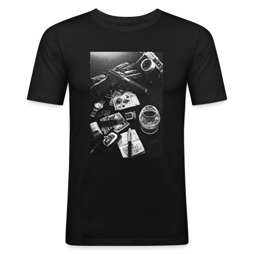 Streetlife - Männer Slim Fit T-Shirt