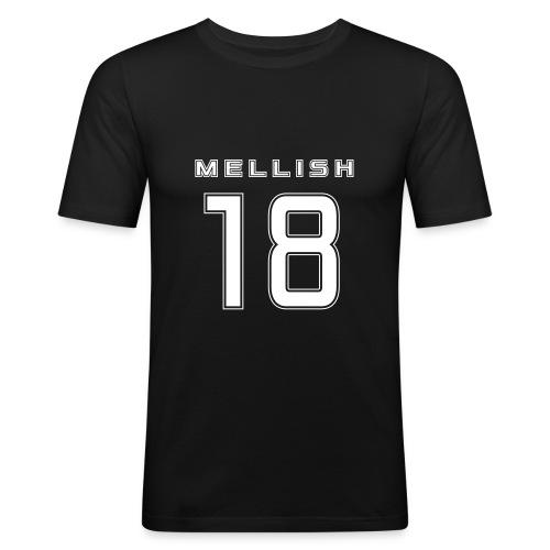 Mellish Number White - Men's Slim Fit T-Shirt