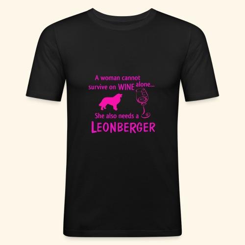 Wine&Leonberger - Slim Fit T-shirt herr