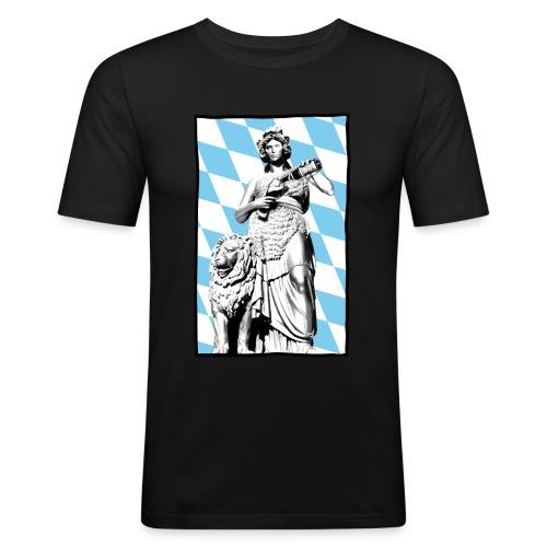 Bavaria am Weißbier schwoam - Männer Slim Fit T-Shirt