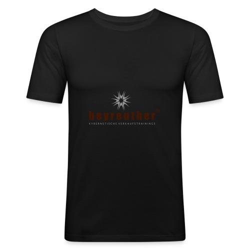 Logo beyreuther verkaufstrainer - Männer Slim Fit T-Shirt
