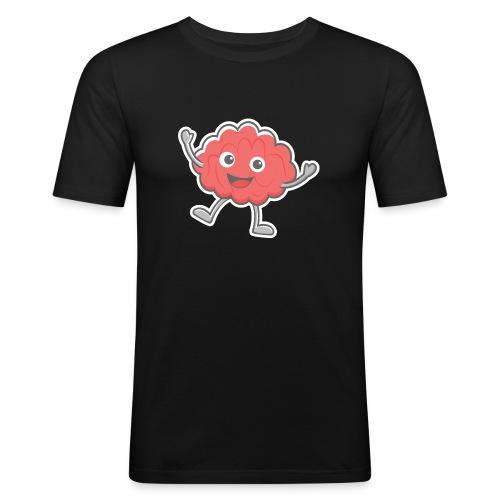 Happy Brain - Männer Slim Fit T-Shirt