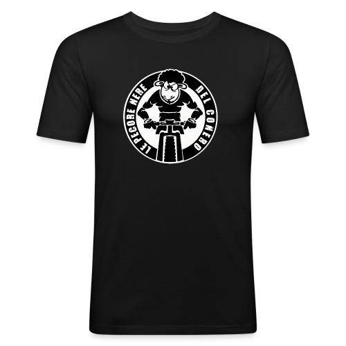 logo_pecora - Maglietta aderente da uomo
