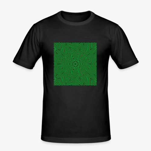 Psychedelic Star - Männer Slim Fit T-Shirt