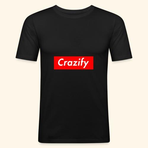 Crazify Red & White - Men's Slim Fit T-Shirt