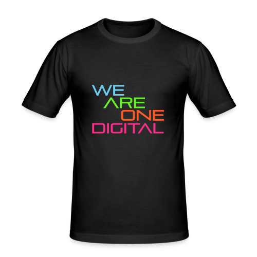 Official We Are One Digital Text Design - Men's Slim Fit T-Shirt