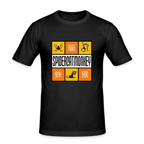 Band-Logo SPIDERCATMONKEY, orange - Männer Slim Fit T-Shirt