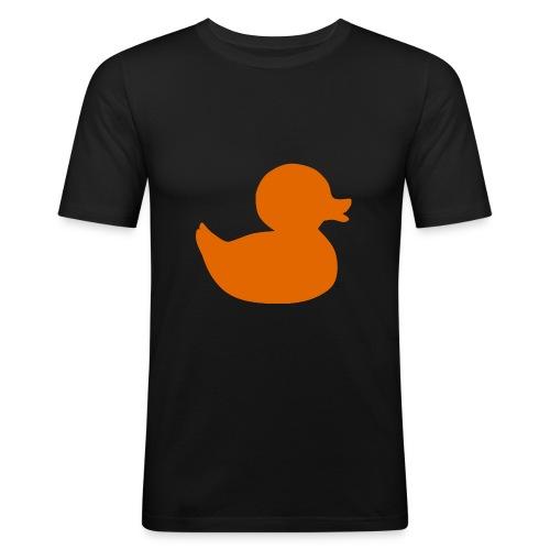 Orange duck tee - Men's Slim Fit T-Shirt