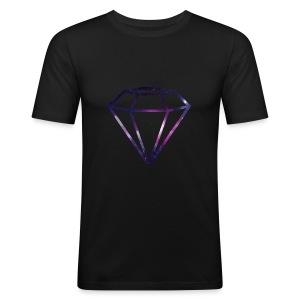 Galaxy Diamond - Slim Fit T-skjorte for menn