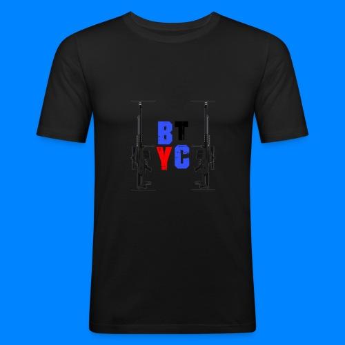 Blurixincommander YT AS50 Logo - Männer Slim Fit T-Shirt