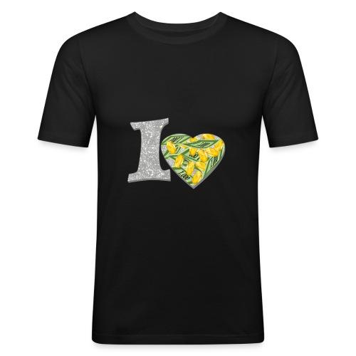 I LOVE MONEY - Männer Slim Fit T-Shirt