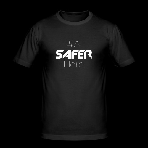 #ASaferHero - Männer Slim Fit T-Shirt