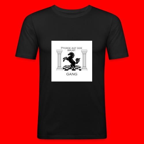 Pferde Auf Der Brust Gang - Männer Slim Fit T-Shirt