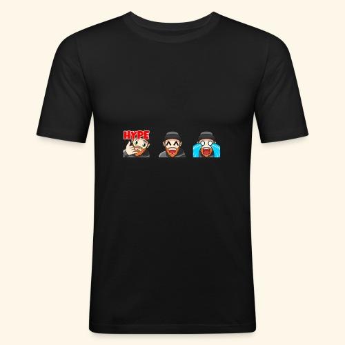 3Emotes - Men's Slim Fit T-Shirt