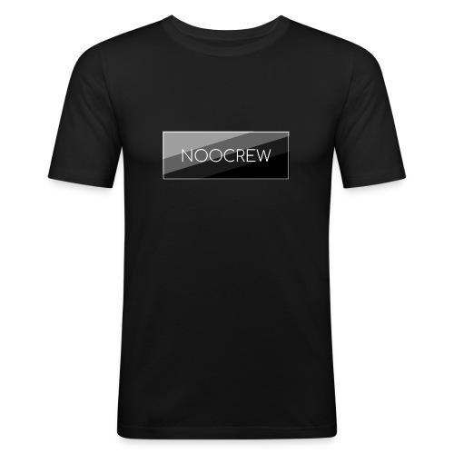 NooCrew Black Design - Männer Slim Fit T-Shirt