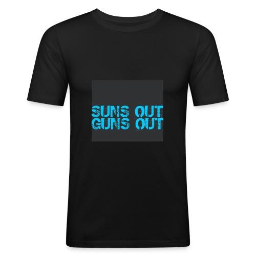 Felpa suns out guns out - Maglietta aderente da uomo