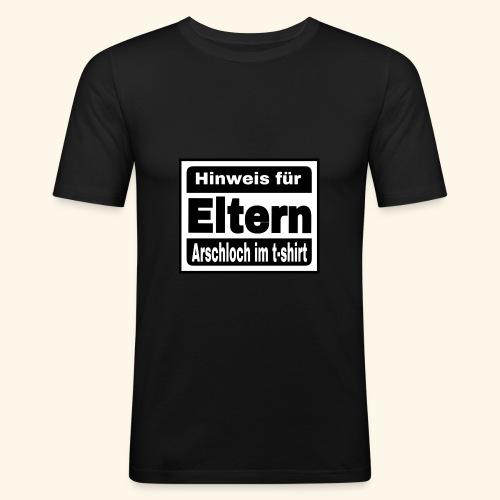 Parentel advisory, Hinweis an die eltern - Männer Slim Fit T-Shirt