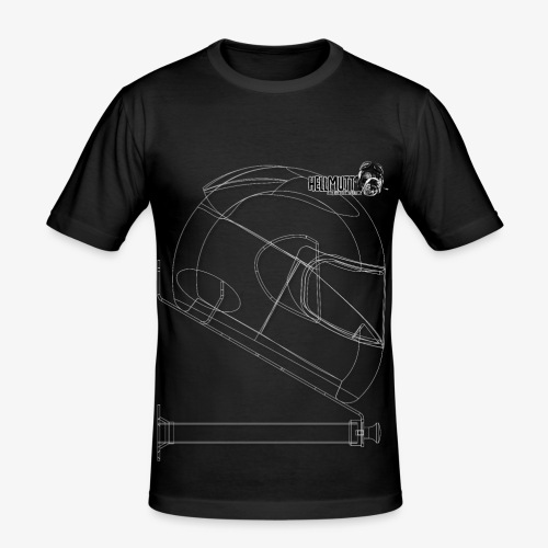 HellMutt LOGO and large Bracket DarkFabric - Men's Slim Fit T-Shirt